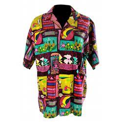 Vintage Enchanted Tiki Room host shirt- pattern A.