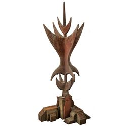 Vintage Enchanted Tiki Room entrance finial.