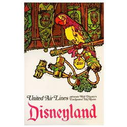 United Airlines Enchanted Tiki Room travel poster.
