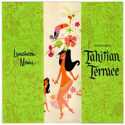Tahitian Terrace luncheon and special menu card.
