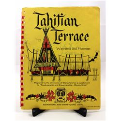 Tahitian Terrace standard operating procedures manual for waitresses and hostesses.