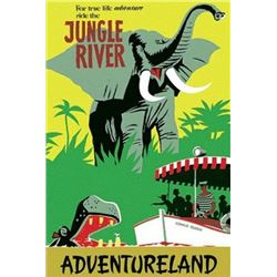 Original Jungle River attraction poster.