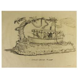 Original Bruce Bushman Jungle Cruise float design for the Disneyland 1959 re-opening.