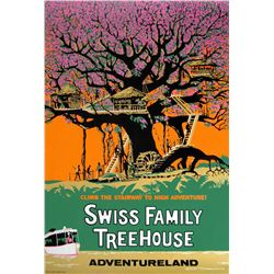 Original Swiss Family Treehouse attraction poster.