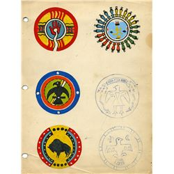 Original (3) Indian Village War shield designs.