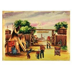 Original Frontierland  Jaymar puzzle artwork.