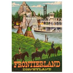 "Frontierland ""Near-Attraction"""" poster from the Main Street Emporium."