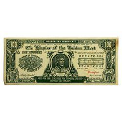 """""""Davy Crockett"""" one hundred bucks souvenir note."""