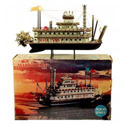 Mark Twain Riverboat transistor radio with box.