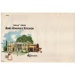Aunt Jemima's Kitchen illustrated mailing envelope.
