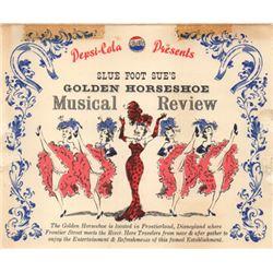 Golden Horseshoe revue table card menu.