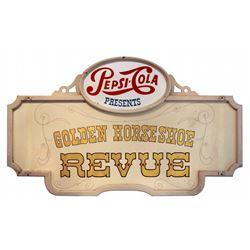 Original Golden Horseshoe Revue marquee sign.