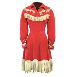 "Betty Taylor original ""Slue Foot Sue"" costume dress."