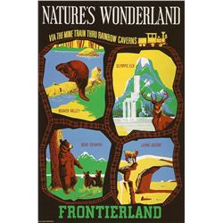 Original Natures Wonderland attraction poster.