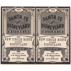Santa Fe and Disneyland Railroad Route map.