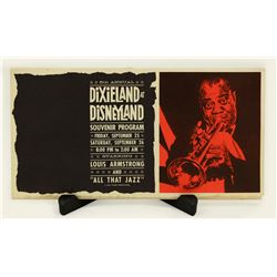Dixieland at Disney land with Louis Armstrong souvenir program.