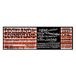 Dixieland at Disneyland special admission ticket.