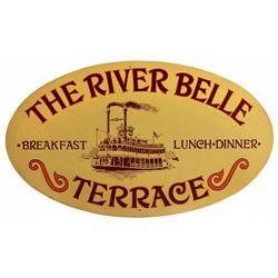 RIVER BELLE TERRACE RESTAURANT ORIGINAL ENTRANCE SIGN.