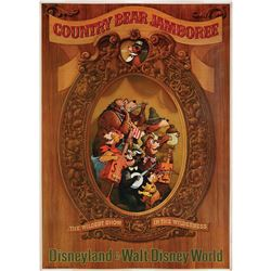 Original Country Bear Jamboree attraction poster.
