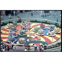 Collection of (35) amateur color slides at Disneyland circa 1962.