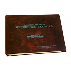 Haunted Mansion Original Audio-Animatronics Maintenance Manual Binder.
