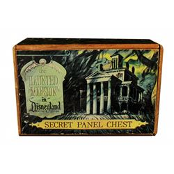 Haunted Mansion secret panel chest.