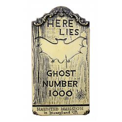 Randotti Haunted Mansion  souvenir tombstone.