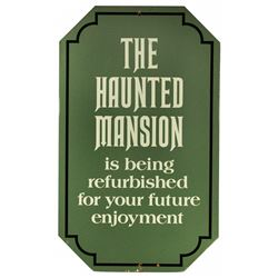 Disneyland Haunted Mansion original closed sign.