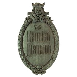 Disneyland Haunted Mansion Entry Plaque reproduction