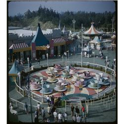 Collection of (9) amateur 3-d stereo slides of Disneyland circa 1958-1961.