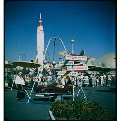 Collection of (10) color amateur 3-d stereo slides of Disneyland circa 1957-1959.