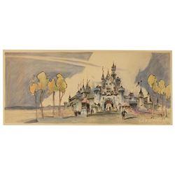 Disneyland Hotel Sleeping Beauty Castle  display print.