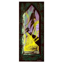 Signed Eyvind Earle Sleeping Beauty Castle walk-through concept art.