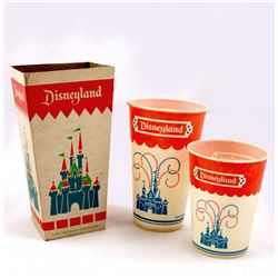 Disneyland Popcorn Box & Wax Paper Cups