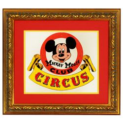 Original Bruce Bushman design painting for the Mickey Mouse Club Circus.