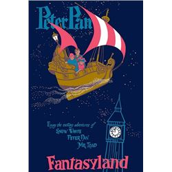 Original Peter Pan attraction poster.