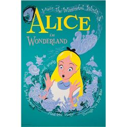 Original Alice in Wonderland  attraction poster.