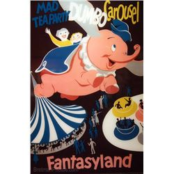 Original Dumbo Fantasyland attraction poster.