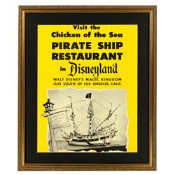 Chicken of the Sea Pirate Ship Restaurant store display poster.