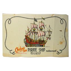 Chicken of the Sea Pirate Ship Restaurant food tray liner.