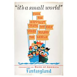 Original It's a Small World  attraction poster.