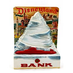 Matterhorn Bobsleds tin-litho bank.