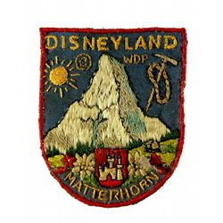 Matterhorn Bobsleds cast member uniform jacket patch.