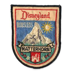 Matterhorn bobsleds cast member uniform patch.