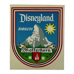 Matterhorn Bobsleds vehicle sticker.
