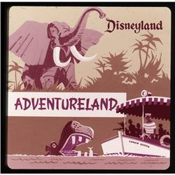 Collection of (24) color magenta early vari-vue souvenir slides of Disneyland.