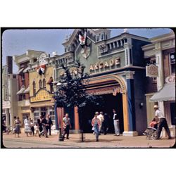 Collection of (20) color commercial souvenir slides of Disneyland circa 1955.