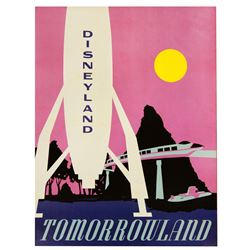"TOMORROWLAND ""NEAR-ATTRACTION"" POSTER FROM THE MAIN STREET EMPORIUM."