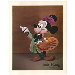 "Disneyland Art Corner ""Mickey Mouse"" oversize picture card."