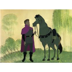 "Original production cel of Prince and Sampson from ""Sleeping Beauty"